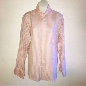 Lacoste Button Front Shirt Pink Black Size 40 B23